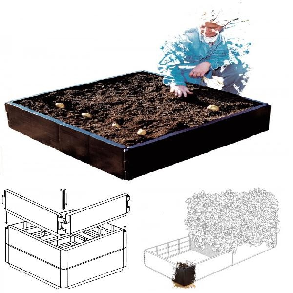 Grow Bed 98x98x25 cm. (230 Lt.)