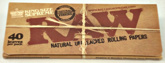 Papel Raw King Size Unbleached Ancho