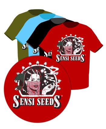 Camiseta Sensi Seeds Vintage Logo ( talla L) Negro
