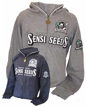 Sudaderas Con Capucha Sensi Seeds (Negro XL)