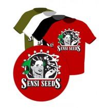 Camiseta con el Logo Sensi Seeds (talla L) negro L